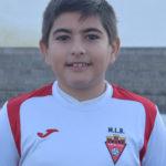 Bryan Caparrós jugador del Aspe UD Alevín B