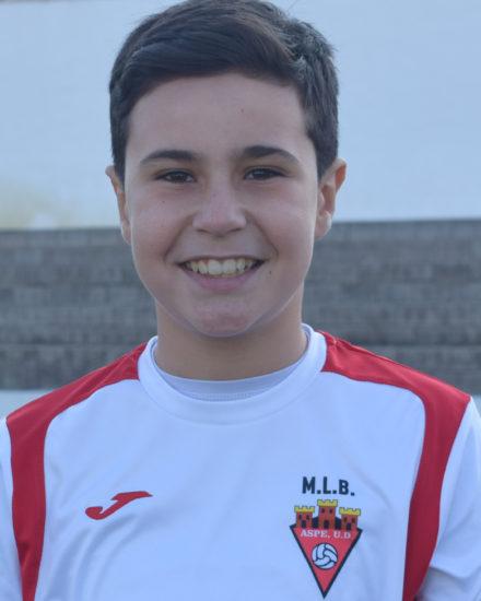 Daniel Martínez jugador del Aspe UD Alevín A