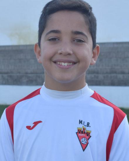 Darío Navarro jugador del Aspe UD Alevín A