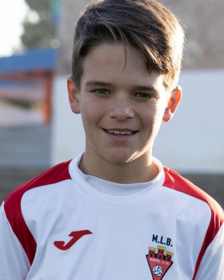 Eduardo García Melgoso jugador del Aspe UD Infantil B