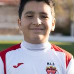 Gorka García jugador del Aspe UD Alevín B
