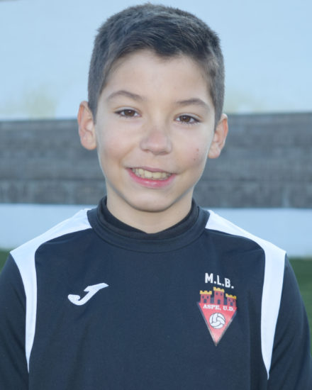 Hugo Martínez jugador del Aspe UD Alevín B