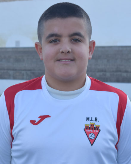 JAVIER MARTINEZ RIQUELME jugador del Aspe UD Infantil B