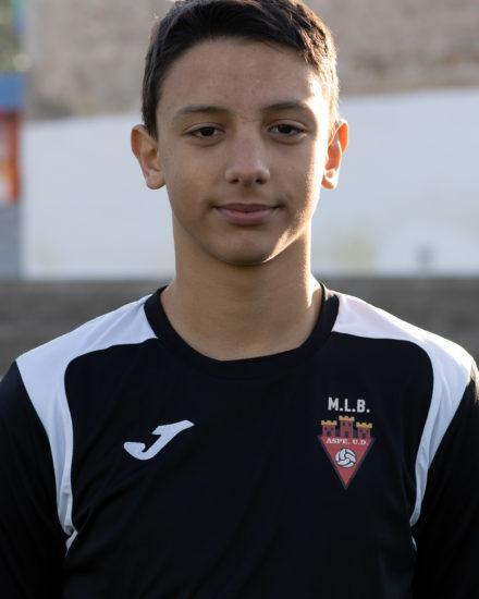 JAVIER GALVAÑ PADILLA Jugador del Aspe UD INFANTIL B