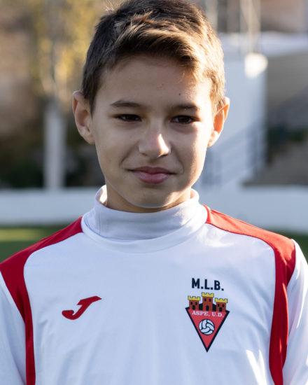 Javier Alberola jugador del Aspe UD Alevín A