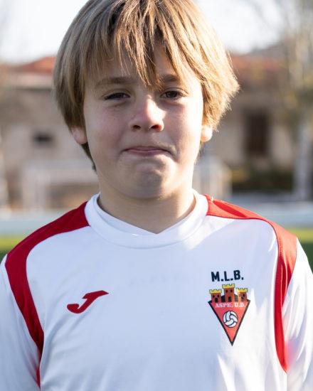 Jorge Alenda jugador del Aspe UD Alevín B