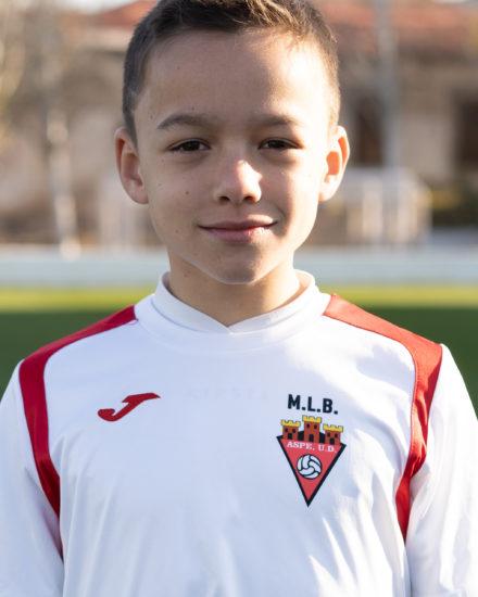 Jorge López jugador del Aspe UD Alevín B