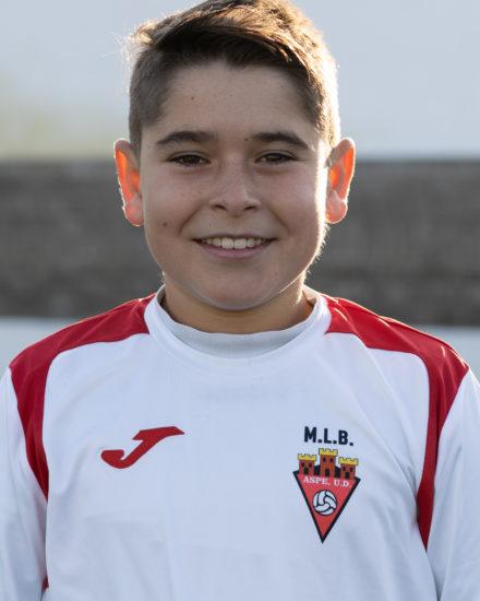 Samuel Alberola Perea jugador del Aspe UD Alevín A