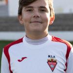 Tiago Elvira jugador del Aspe UD Infantil B