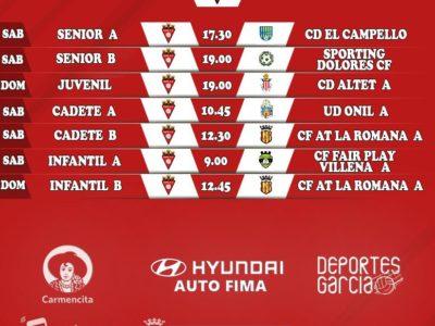 Horarios Aspe UD 1-2 de febrero Fútbol 11