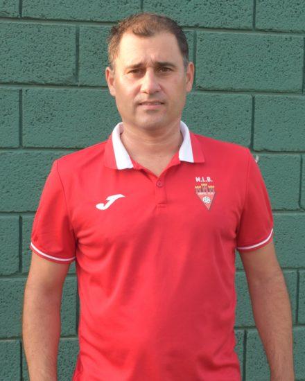 Abel Pérez Cremades, Copi, es delegado del equipo Senior B del Aspe UD