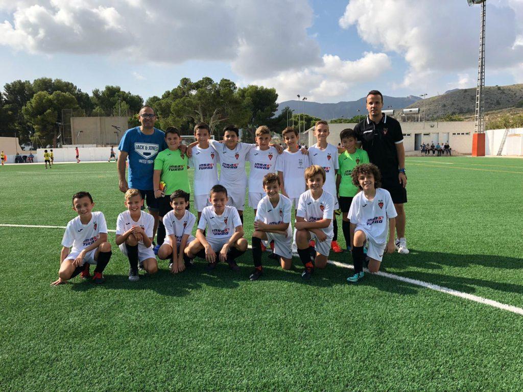 Equipo Alevín B del Aspe Unión Deportiva