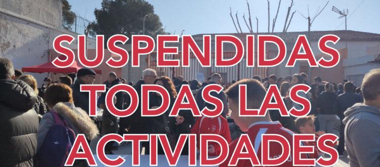 Suspendidas todas las actividades debido al COVID-19