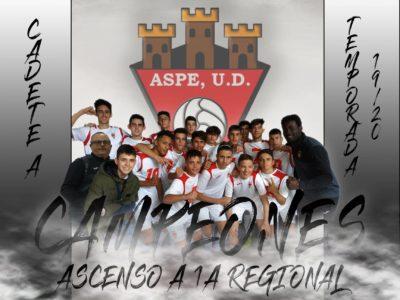 Cadete A campeón LIGA y Ascenso a 1A Regional