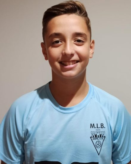 Vicente Gómez Martínez jugador del Aspe UD Infantil A