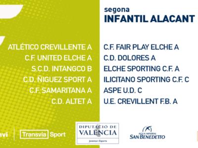 El Infantil C del Aspe UD jugará en el grupo 9 de segunda regional