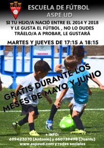 Escuela de fútbol del Aspe Unión Deportiva