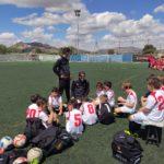 El Benjamín C recibiendo instrucciones de sus entrenadores