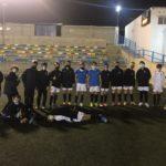 Alevín A del Aspe Unión Deportiva tras un entrenamiento