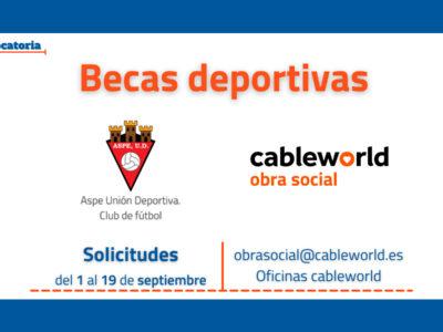 Becas deportivas Fundación Cableworld - Aspe UD