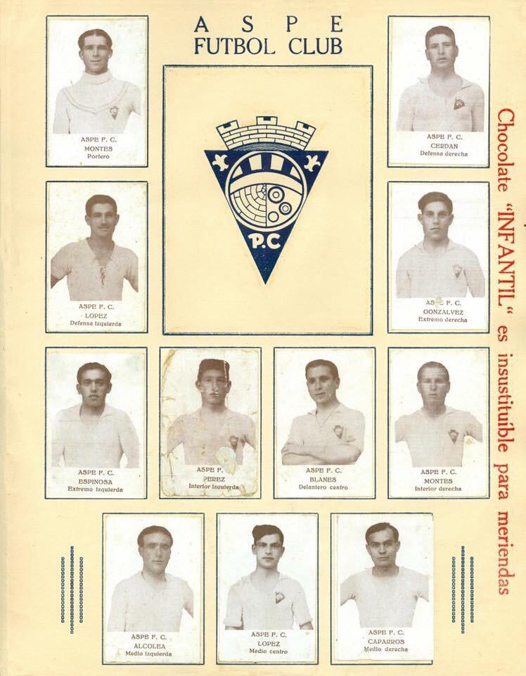 Plantilla del Aspe FC en los años 30