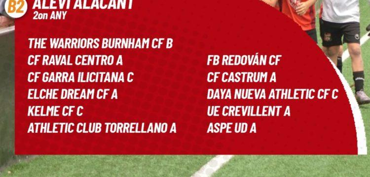 Rivales del Alevin A del Aspe UD para la temporada 2021/2022