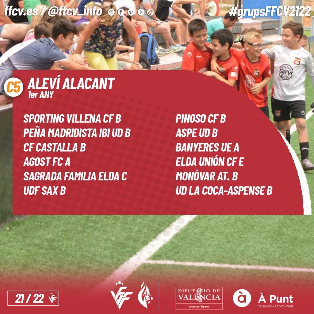 Rivales del Alevin B del Aspe UD para la temporada 2021/2022