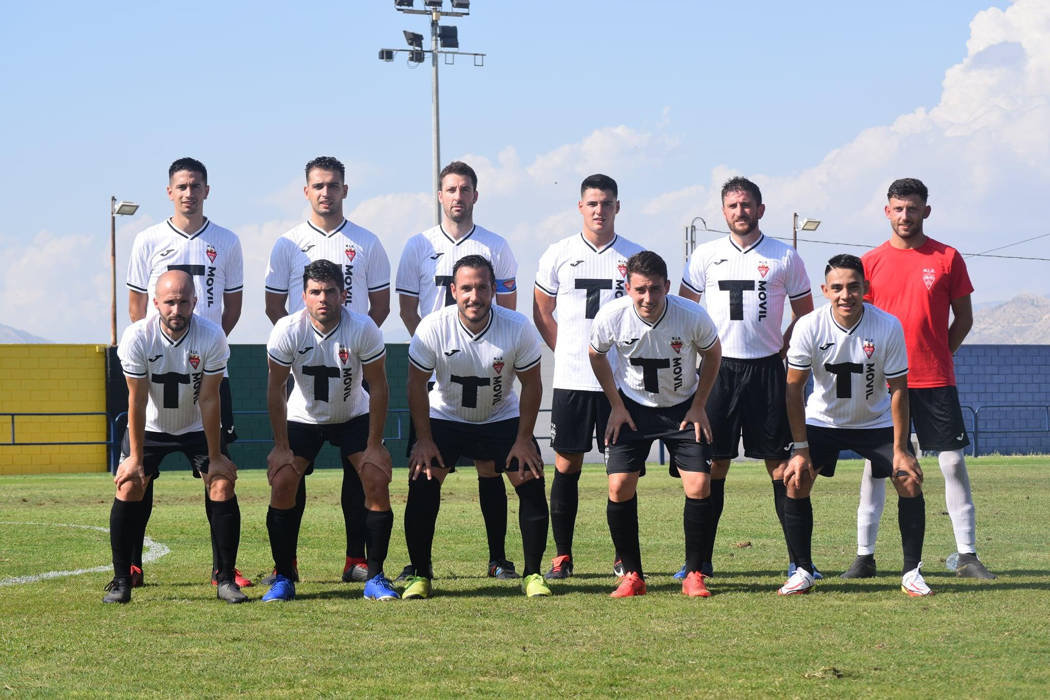 Alineación titular del Aspe UD Senior A en el primer partido de la temporada 2021-2022